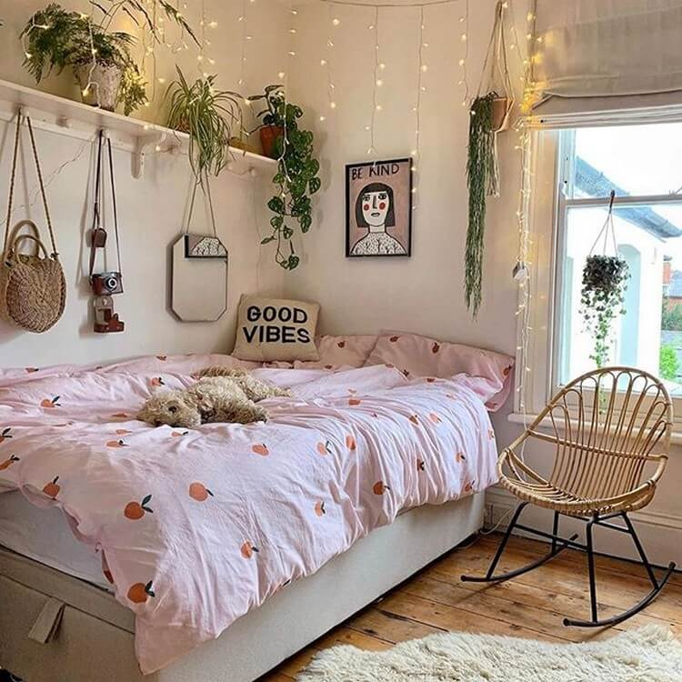 interesting hippie bedroom ideas with happy tones and